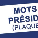 Mots des Présidents (plaquettes)