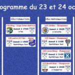 Programme football du 23-24 octobre