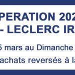 Opération 2021 : JAB - LECLERC IRATY