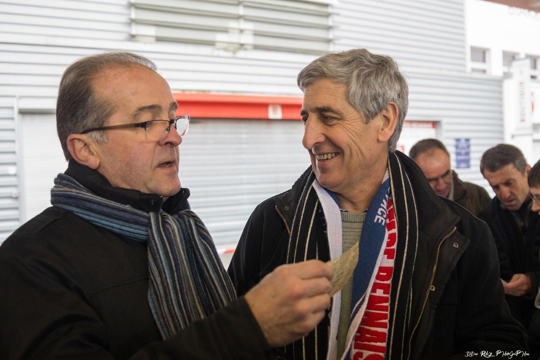 Henri Cardy et Philippe Eyharts, piliers de l'équipe 1974 qui ne connaitront qu'une défaite dans la saison.