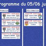 Programme football du 05 et 06 juin