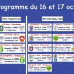 Programme football du 16-17 octobre