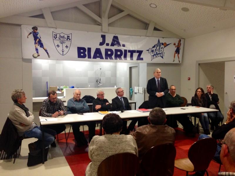 Monsieur Michel Veunac, maire de Biarritz, a confirmé l'attachement de la Municipalité envers la JAB.