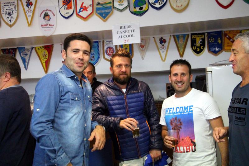 Dimitri Yachvili (Mindurry Promotion et Camping Biarritz), Samuel Amat (Carrefour City - Halles), Olivier (Partenariat JAB) et Pierre Etcheverry (Menuiserie Etcheverry)