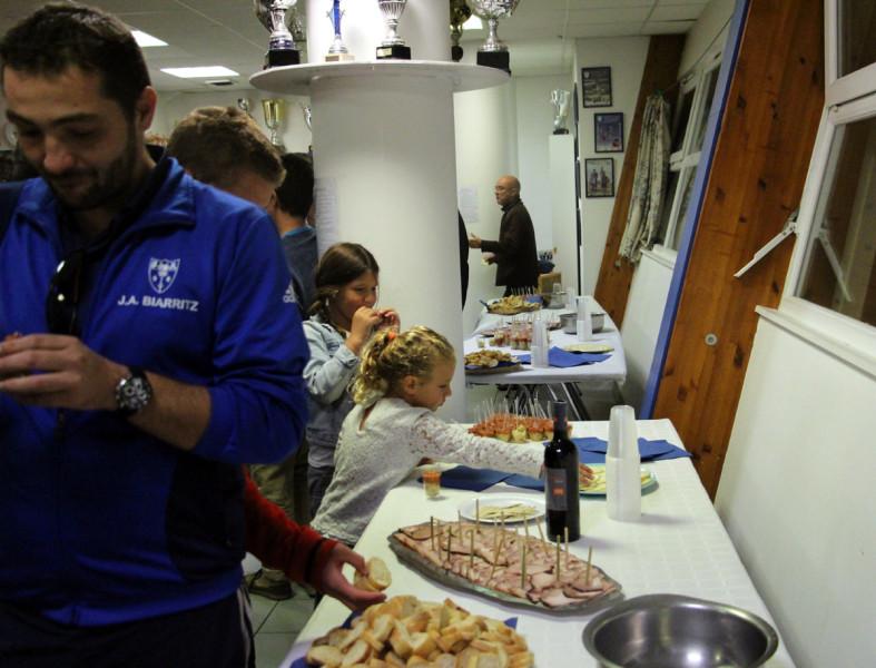 Notre buffet offert par monsieur Coeurveillé du HELDER DISTRIBUTION