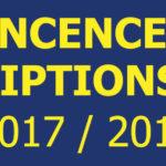 Permanence et informations inscriptions football pour la saison 2017 / 2018