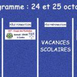 Programme football du samedi 24 et dimanche 25 octobre