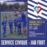 La JAB football recherche 4 services civiques